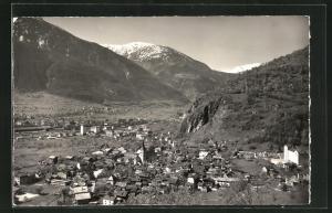 AK Naters, Blick auf den Ort und ins Tal