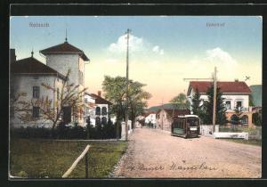 AK Reinach, Strassenbahn im Unterdorf