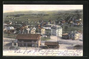 AK Uzwil, Panorama mit Bahnhof