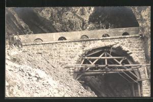 AK Wäggital, Kraftwerk Wäggital, Neue Strasse gegen die Staumauer