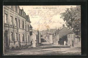 AK Arlon, Rue de Luxembourg, Strassenpartie