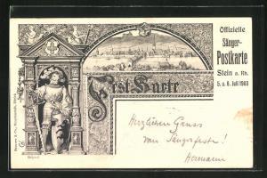 Künstler-AK Stein a. Rh., Sängerfest 1903