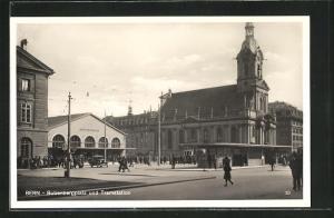 AK Bern, Bubenbergplatz und Tramstation, Hauptbahnhof