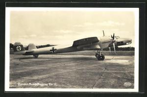 AK Dornier-Kampfflugzeug Do 17 auf Rollfeld
