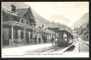 AK Le Châtelard, la gare, Bahnhof