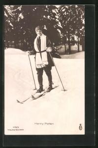 AK Schauspielerin Henny Porten auf Ski