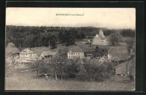 AK Beurnevesin, Ortsansicht mit Kirche