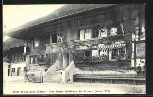 AK Münsingen, Das älteste Wirtshaus der Schweiz anno 1371