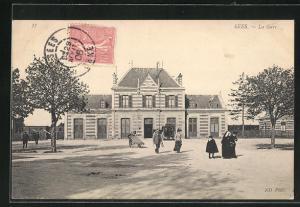 AK Sées, La Gare, Motiv vom Bahnhof