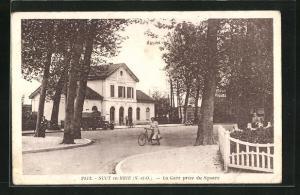 AK Sucy-en-Brie, La Gare prise du Square