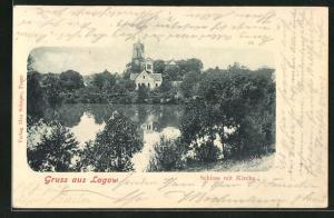 AK Lagow, Schloss mit Kirche