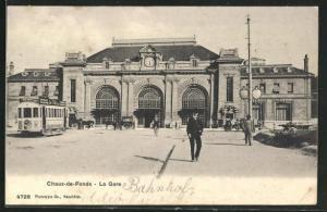 AK Chaux-de-Fonds, La Gare