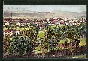 AK St. Pölten, Stadt-Panorama von Norden