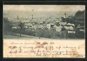 AK Amstetten, Panorama der Ortschaft