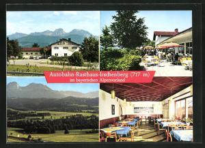 AK Autobahn-Raststätte Irschenberg im bayerischen Alpenvorland