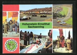 AK Hohenstein-Ernstthal, Sachsenring-Autorennen, Sieger Rennwagen B 8 bis 1300 ccm, Blick zum Wasserwerk