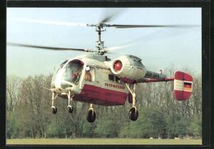 AK Hubschrauber der Interflug mit Doppelrotor