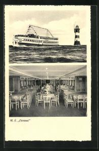 AK Passagierschiff M.S. Oceana passiert den Leuchtturm Roter Sand