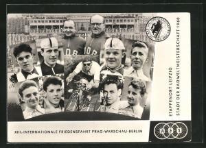 AK XIII. Internationale Friedensfahrt Prag-Warschau-Berlin 1960, Etappenort Leipzig