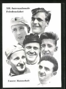 AK XII. Internationale Friedensfahrt 1959, Mannschaft der DDR