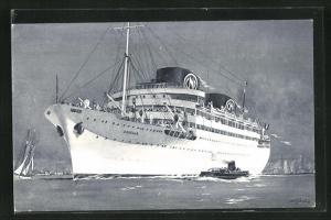 Künstler-AK Passagierschiff Chella, Compagnie de Navigation Marseille