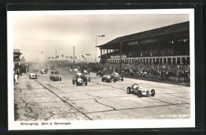 AK Nürburgring, Start der Rennwagen