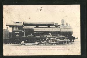 AK Güterzug-Verbund-Lokomotive, erbaut von der Sächsischen Maschinenfabrik