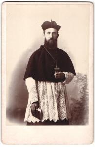 Fotografie St. John's University, Collegeville / Minnesota, Geistlicher St. John's Abtei ca. 1890