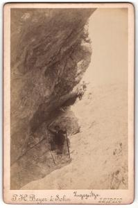 Fotografie P.H. Beyer & Sohn, Leipzig, Bergsteiger auf der Zugspitze
