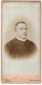 Fotografie F. Stagl, Oedenburg-Sopron, Portrait Geistlicher