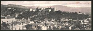 Klapp-AK Granada, La Alhambra y Sierra Nevada desde San Miguel el Bajo