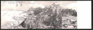 Klapp-AK Panorama von der Albert Heim-Hütte, Blick auf Gletschhorn und Winterstock