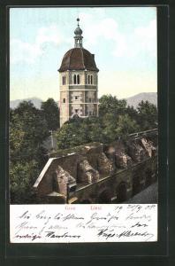 Relief-AK Graz, Blick auf den Glocken-Turm (Liesl)