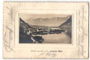 AK Zell am See, Ortsansicht gegen das Steinerne Meer