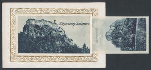 Leporello-AK Riegersburg, Schloss, Schlosshof mit Brunnen, Wenzlslay-Tor