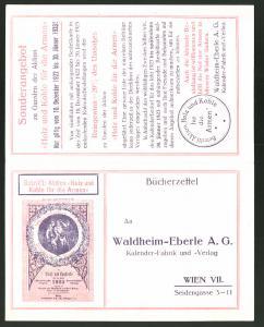 Klapp-AK Wien, Kalender-Fabrik Waldheim-Eberle AG, Seidengasse 3-11