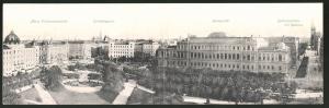 Klapp-AK Wien, Universität mit Maria Theresienstrasse und Rathausstrasse
