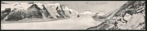 Klapp-AK Franz Josefshöhe, Panoramablick auf den Pasterzengletscher