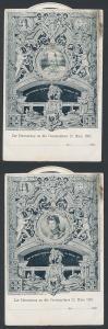 Mechanische-AK Berlin, Centenarfeier 1897, National-Denkmal, Wählbare Portraits von Friedrich Wilhelm III.