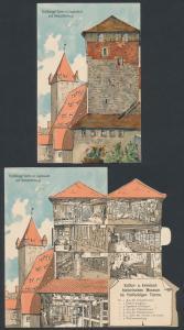 Mechanische-AK Nürnberg, Fünfeckiger Turm mit Luginsland und Kaiserstallung, Innenansicht vom Museum
