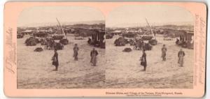 Stereo-Fotografie Jarvis, Washington D.C., Ansicht Nijni-Novgorod / Russland, Sibirische Häute & Dorf der Tartaren