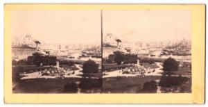 Stereo-Fotografie Fotograf unbekannt, Ansicht Genua - Genova, Veduta Generale, presa dal Terrazzo del palazzo Doria
