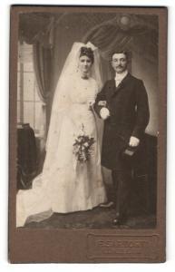 Fotografie F. Sartorti, Lüneburg, Portrait Braut und Bräutigam, Hochzeit
