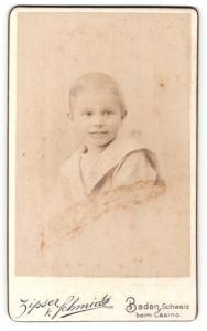 Fotografie Zipser & Schmidt, Baden, Portrait eines niedlichen Knaben