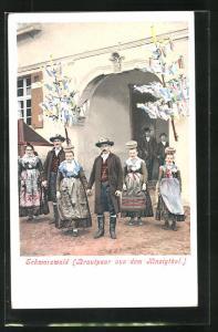 AK Schwarzwälder Brautpaar aus dem Kinzigthal