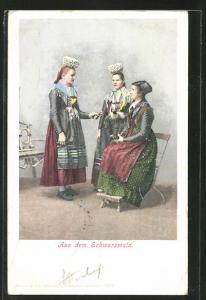 AK Frauen in Schwarzwälder Tracht