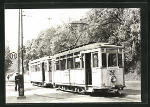 AK Jena, 75 Jahre Strassenbahn, Tw 12 mit Bw 46 an der Endstelle Mühltal, 1964