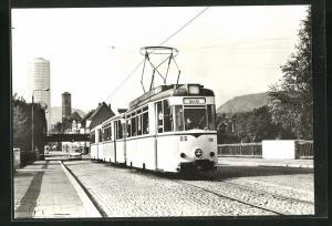 AK Jena, 75 Jahre Strassenbahn, Blick von der Brücke der Deutsch-Sowjetischen Freundschaft zur Innenstadt