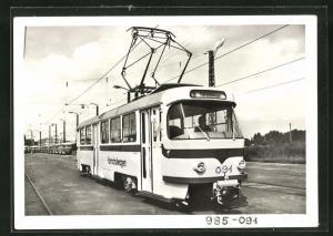 AK Halle, 100 Jahre Strassenbahn 1982, T4D-Fahrschulwagen VF2