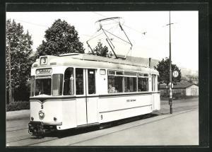 AK Jena, 75 Jahre Strassenbahn, Tw 9 an der Endstelle Saalbahnhof